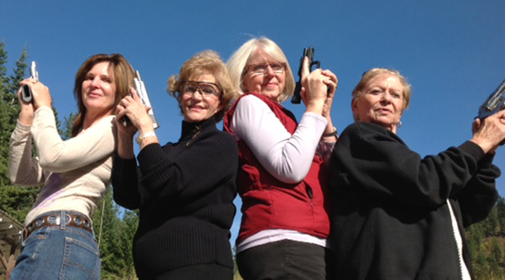 Women Posing with Guns, Midwest Training Group